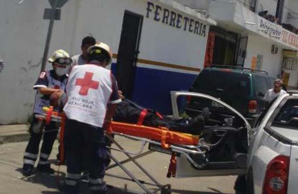 Conductor Resultó Herido en Aparatoso Choque