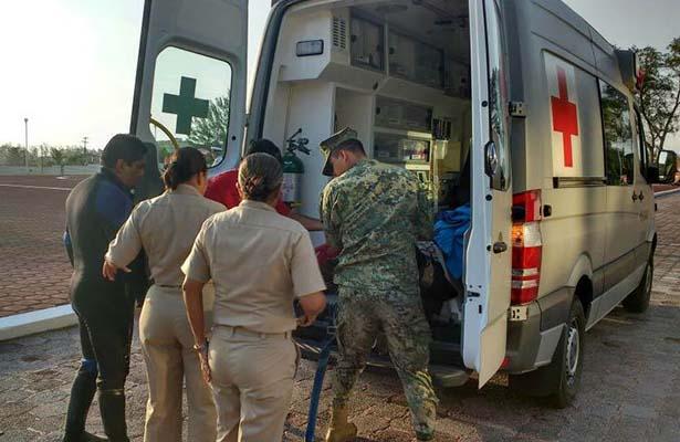 Rescata Semar a Buzo Extraviado Frente a las Costas de Tamaulipas