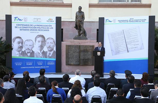 Participa el Congreso en el Festejo de las Constituciones de México y Tamaulipas