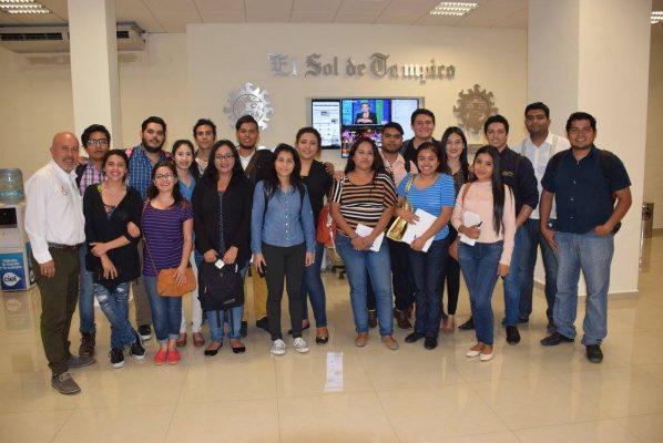 Visitaron El Sol de Tampico alumnos de la UAT
