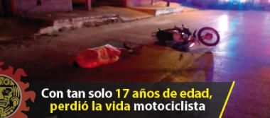 Con tan solo 17 años de edad, perdió la vida motociclista