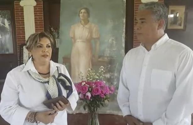 Cuadro de Doña Cecilia Camarena está ya en su santuario