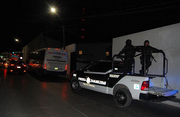 Redoblan vigilancia elementos de Fuerza Tamaulipas tras asalto a camión Ürban
