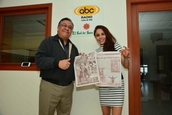 Paola Longoria visita instalaciones de El Sol de San Luis