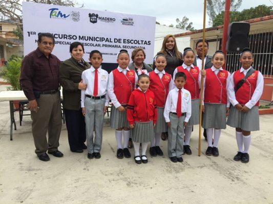 Desarrollan en Madero el primer concurso de escoltas