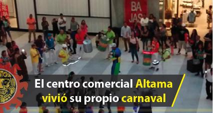 La batucada da color y sonido en Altama