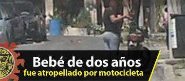 Bebé de dos años de edad fue atropellado por una motocicleta