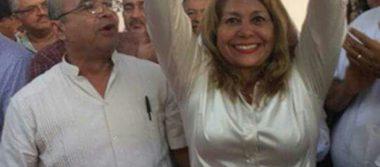 Micaela se registra como aspirante única del PRI por la alcaldía de Pueblo Viejo