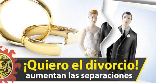 Divorcios aumentan más de 100 por ciento en últimos 15 años: INEGI