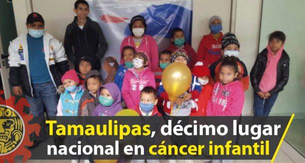 Tamaulipas ocupa el décimo lugar nacional en incidencia de cáncer infantil
