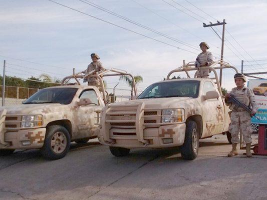 Resguardan estacionamiento en Otay, al parecer otro narcotúnel