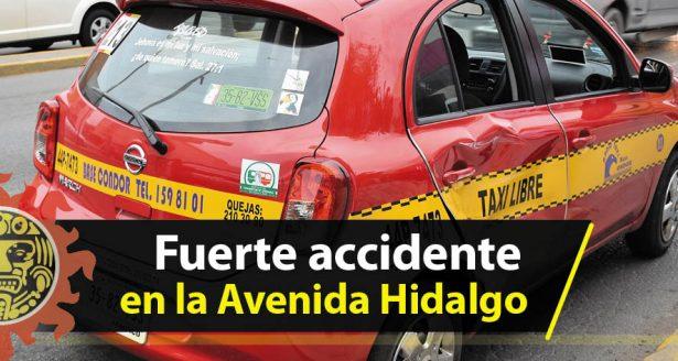 Fuerte accidente en la Avenida Hidalgo