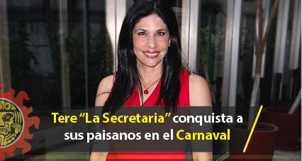 """Tere """"La Secretaria"""" conquista a sus paisanos en el Carnaval Tampico 2017"""