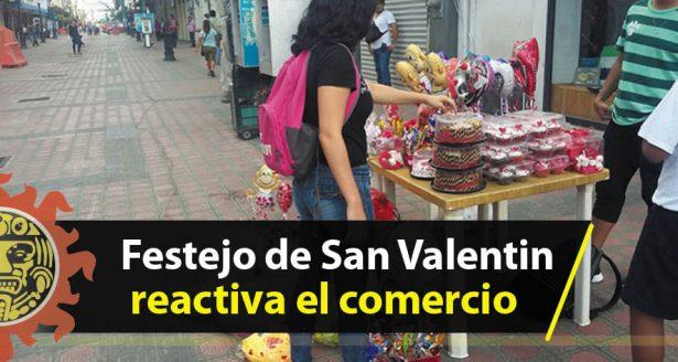 Festejo de San Valentín reactiva el comercio