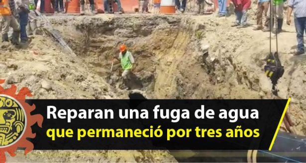 Reparan una fuga de agua que permaneció por tres años