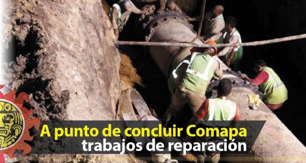 A punto de concluir Comapa trabajos de reparación