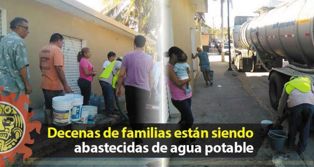 Decenas de familias están siendo abastecidas de agua potable
