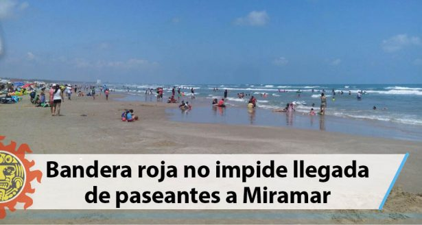 Bandera roja no impide llegada de paseantes a Miramar