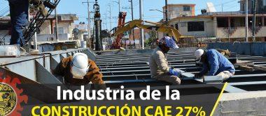 Cae 27% la industria de la construcción