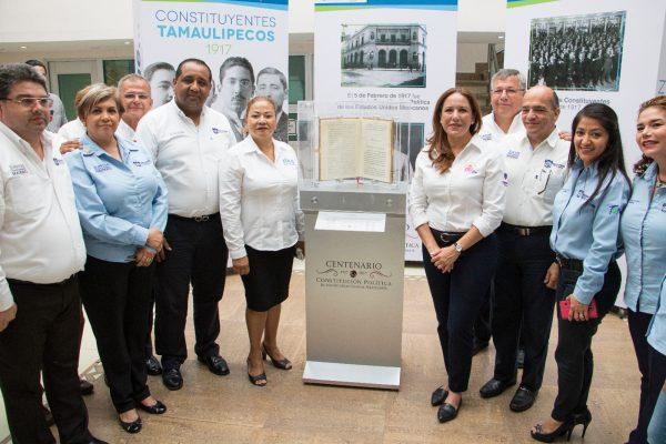 Exponen en Cd. Madero el Facsímil de la Constitución Política