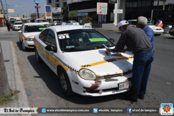 Decomisan 15 vehículos de transporte público en Reynosa