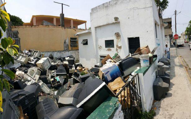 Cerrados los módulos de recolección de basura electrónica en Madero