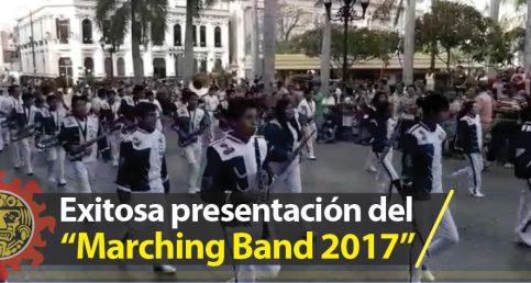 """Gran éxito del """"Marching Band 2017"""" en Tampico"""