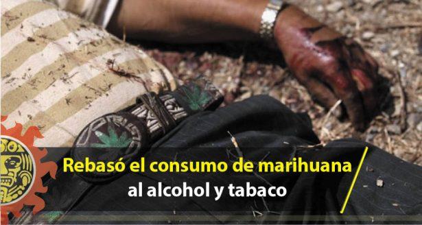Rebasó el consumo de marihuana al alcohol y tabaco