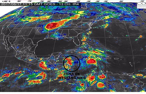 Amenaza la Península de Yucatán una inestabilidad ciclónica