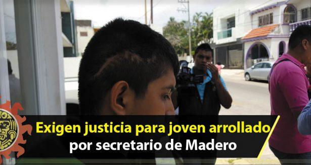Exigen justicia para joven arrollado por secretario de Madero