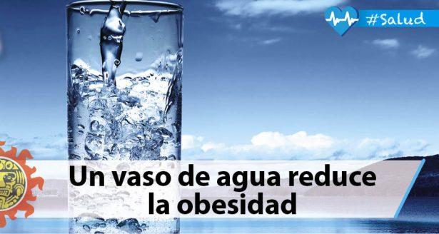 Un vaso de agua reduce la obesidad