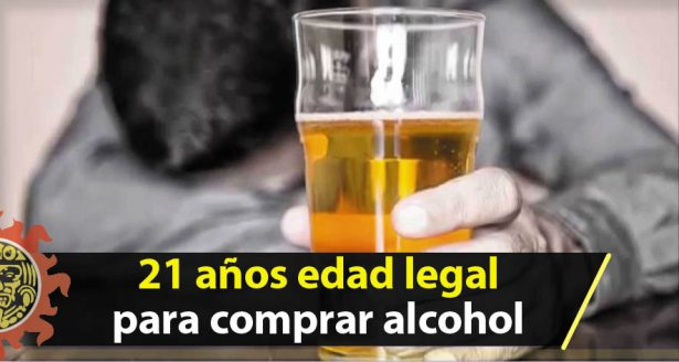 Promueven que la edad legal para la venta de alcohol sea 21 Años