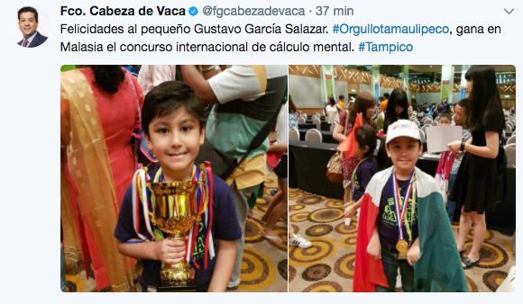 Gobernador felicita a Gustavito