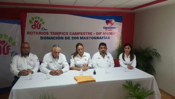 Club Rotario Tampico Campestre dona 200 mastografías a DIF Madero