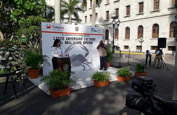 Celebran aniversario luctuoso de Álvaro Obregón