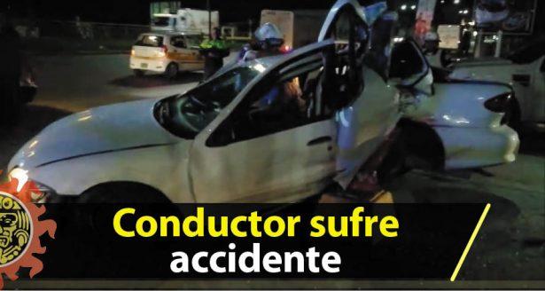 Conductor sufre accidente