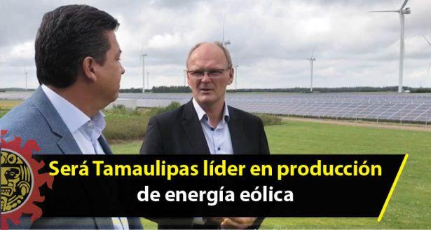 Será Tamaulipas líder en producción de energía eólica
