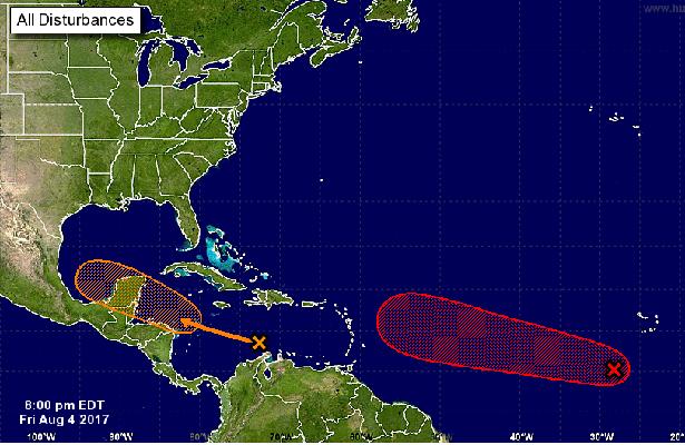 Mantienen vigilancia sobre el disturbio tropical que avanza por el Mar Caribe