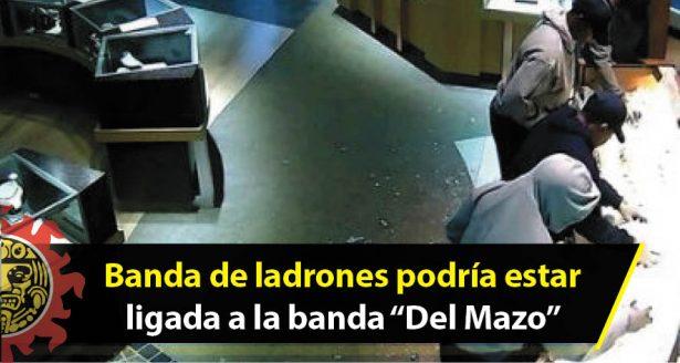 """Banda de ladrones podría estar ligada a la banda """"Del Mazo"""""""