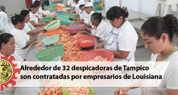 Alrededor de 32 despicadoras de Tampico son contratadas por empresarios de Louisiana