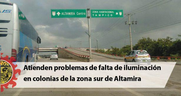 Atienden problemas de falta de iluminación en colonias de la zona sur de Altamira
