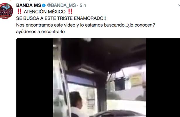 Banda MS busca a chofer de transporte público