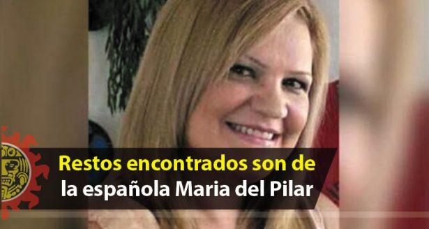 Restos encontrados son de la española Maria del Pilar Garrido: PGJT