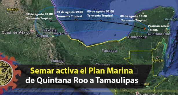 Semar activa el Plan Marina de Quintana Roo a Tamaulipas