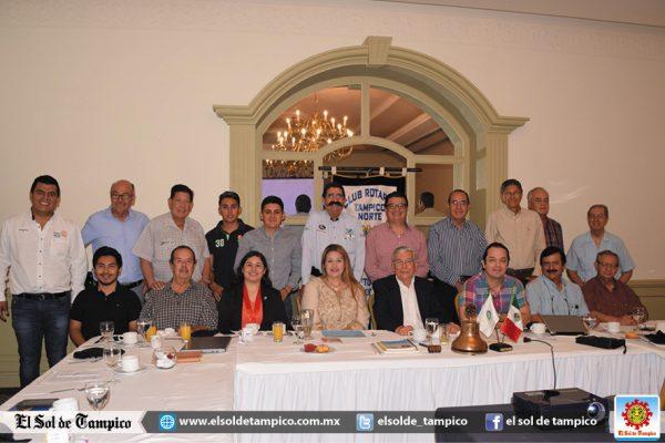 Rotarios Tampico Norte tienen interesante sesión