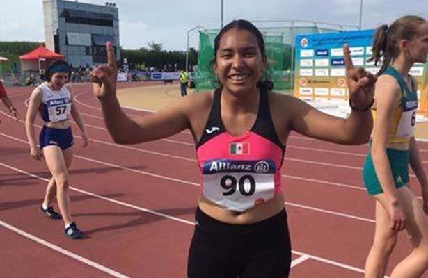 Karla Cárdenas, bronce en el Primer Mundial Junior de Para Atletismo