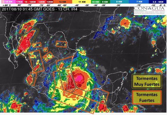Se comenzó a sentir los efectos de las bandas nubosas genera el huracán Franklin
