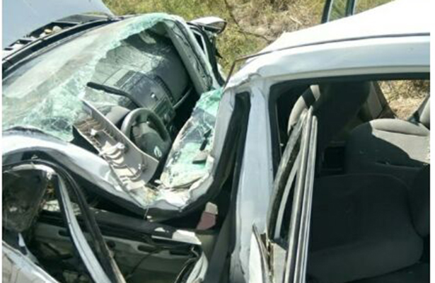 Grave maestro accidentado en volcadura