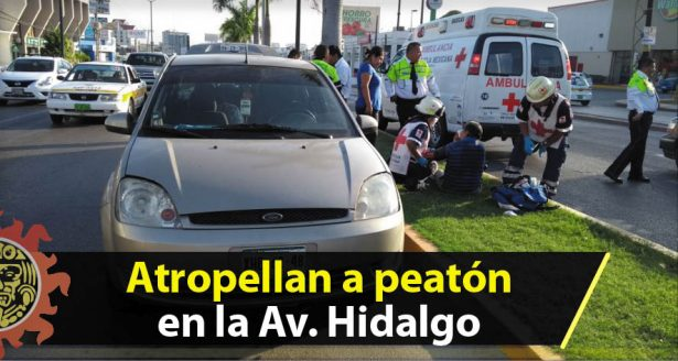 Atropellan a peatón en la Av. Hidalgo