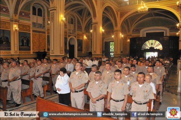 Celebran el Día del Bombero con misa en la Catedral de Tampico